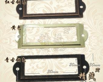 Set of 10 Metal Label Holders,  Card Holders, Metal Label Frames  with Screws  (83MMX30MM)