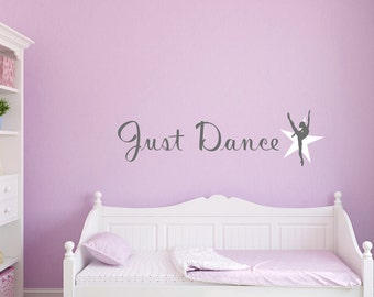 Just dance, dancing inspired two colour wall art sticker, kids bedroom , play room decal