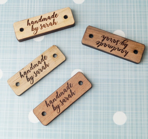 Knitting Labels Custom : Clothing labels custom wooden garment