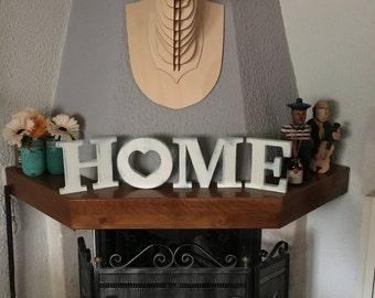 Lettere in legno etsy for Scritta home in legno