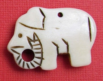 Polished Bone Elephant Pendant
