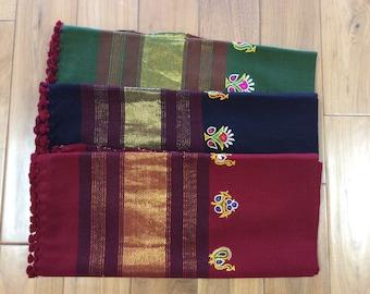 Beautiful Woolen Shawl with kutchi work