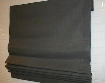 custom LINEN flat ROMAN SHADE (included fabric & lining)