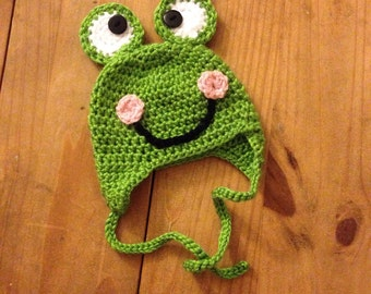Baby Frog Beanie Size 0-3 Months