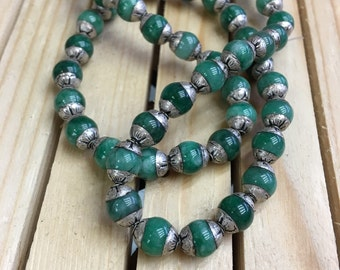 Jade beads cap (50pc)