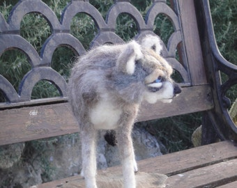 Wolf - needle felted Timber Wolf