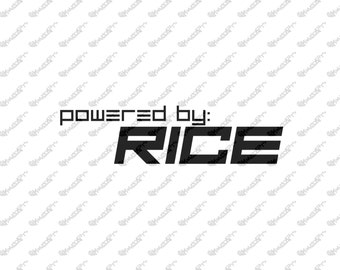Powered by Rice Vinyl Sticker
