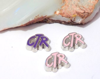 ctr floating charms, floating locket charms, pink locket charms, purple locket charms
