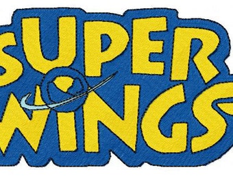 Logo Super Wings Embroidery Design 4x4 5x7 Hoop