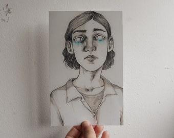 Pencil drawing PRINT