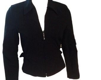Monkey Wear Black Zip Up Jacket - Size Girls 10