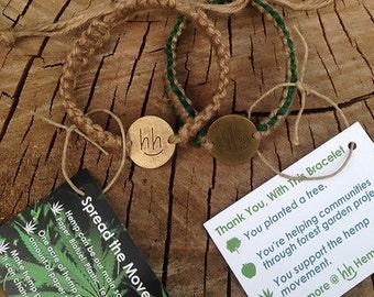 Pay it Forward Hemp Bracelets by Hemp Helps. Each Hemp Bracelet Plants a Tree
