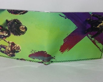magazine joker - comic book wallet, slim wallet, hanmade wallet, card holder, thin wallet, vinyl wallet, mens wallet
