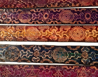 Ladies and Mens Sacred Geometry Belts