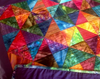 Baby Quilt, Boho Quilt, Modern Quilt, Wall Hanging