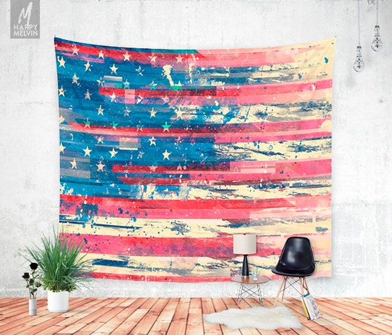amerikka wall tapestry tapestry boho american flag