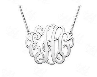 Custom Necklace Silver Plated (A1) (B1)