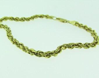 14 K gold rope bracelet