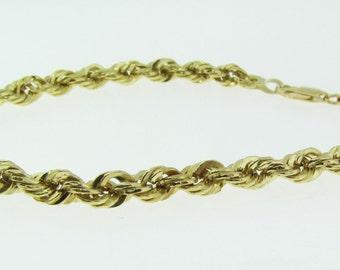 Vintage 10 K gold rope bracelet