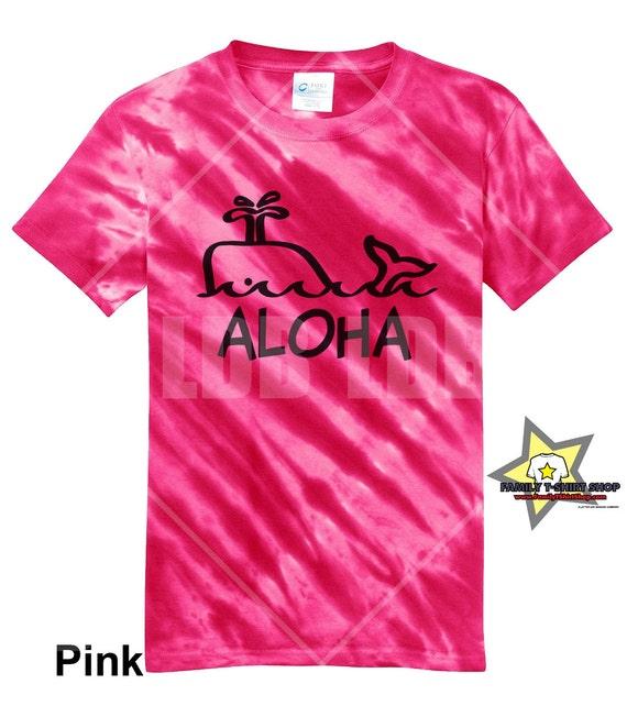 Aloha Whale Hawaiian T-Shirt - Tie Die T-Shirt