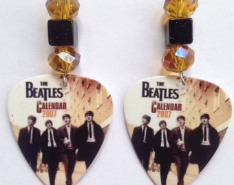 1 Pair- Beatles Guitar Pick Earrings