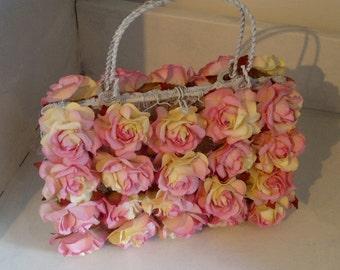 Bridemaids' flower handbags