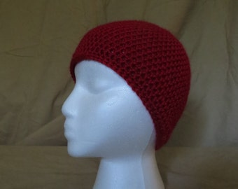 Crocheted Child Beanie Hat in Soft Yarn