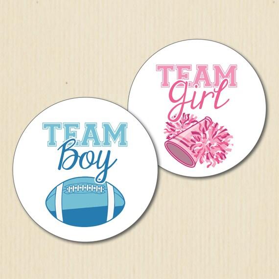 Football Gender Reveal Party Sticker Quarterback