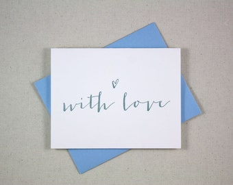 Letterpress Card - With Love [Boxed Set of 6]