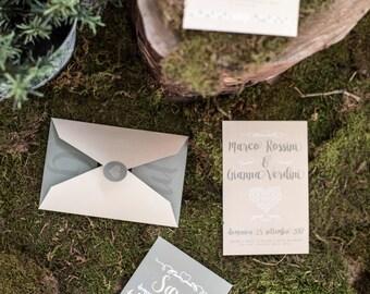 Italian wedding invitations, wedding invitation set, wedding invites, partecipazioni, inviti