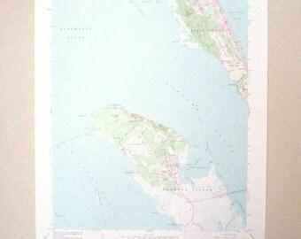 Roanoke & Bodie Island / Albemarle Sound / Manteo North Carolina Quadrangle Map