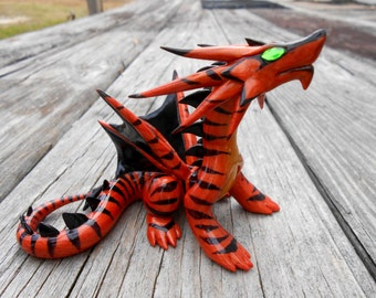 Striped Fire Dragon with D20