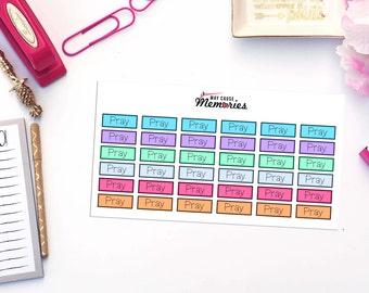 MANTRA/PRAY/MEDITATIE Paper Planner Stickers!