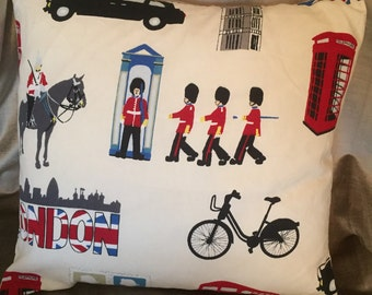 "London Landmarks 16"" cushion with luxury feather insert included"