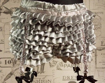 Sissy Satin Frilly French Knickers