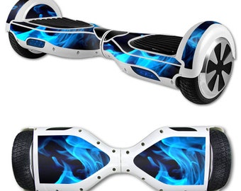 Skin Decal Wrap for Self Balancing Scooter Hoverboard unicycle Blue Flames