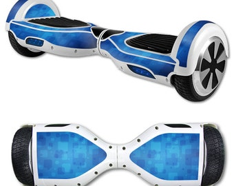 Skin Decal Wrap for Self Balancing Scooter Hoverboard unicycle Blue Retro