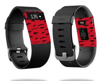 Skin Decal Wrap for Fitbit Blaze, Charge, Charge HR, Surge Watch cover sticker Guns