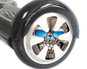 Skin Decal Wrap for Hoverboard Balance Board Scooter Wheels Psycho Skull