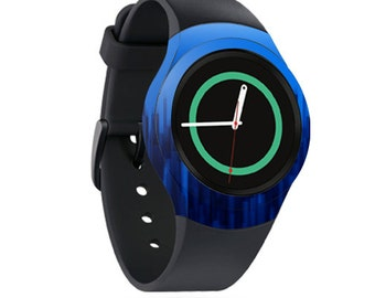Skin Decal Wrap for Samsung Gear S2, S2 3G, Live, Neo S Smart Watch, Galaxy Gear Fit cover sticker Blue Grass