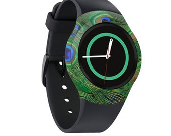 Skin Decal Wrap for Samsung Gear S2, S2 3G, Live, Neo S Smart Watch, Galaxy Gear Fit cover sticker Peacock