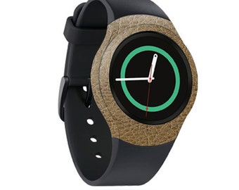Skin Decal Wrap for Samsung Gear S2, S2 3G, Live, Neo S Smart Watch, Galaxy Gear Fit cover sticker Sandalwood Leather
