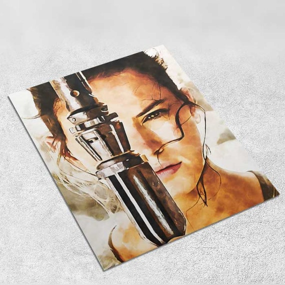 Rey Star Wars Art Print Poster - Episode VII The Force Awakens INSTANT DOWNLOAD 8x10 inches - Ideal Last Minute Gift