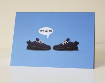 Love You Bro - Manly Greeting Card For Him