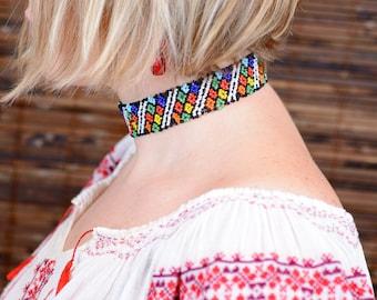 Traditional Romanian choker/beaded necklace