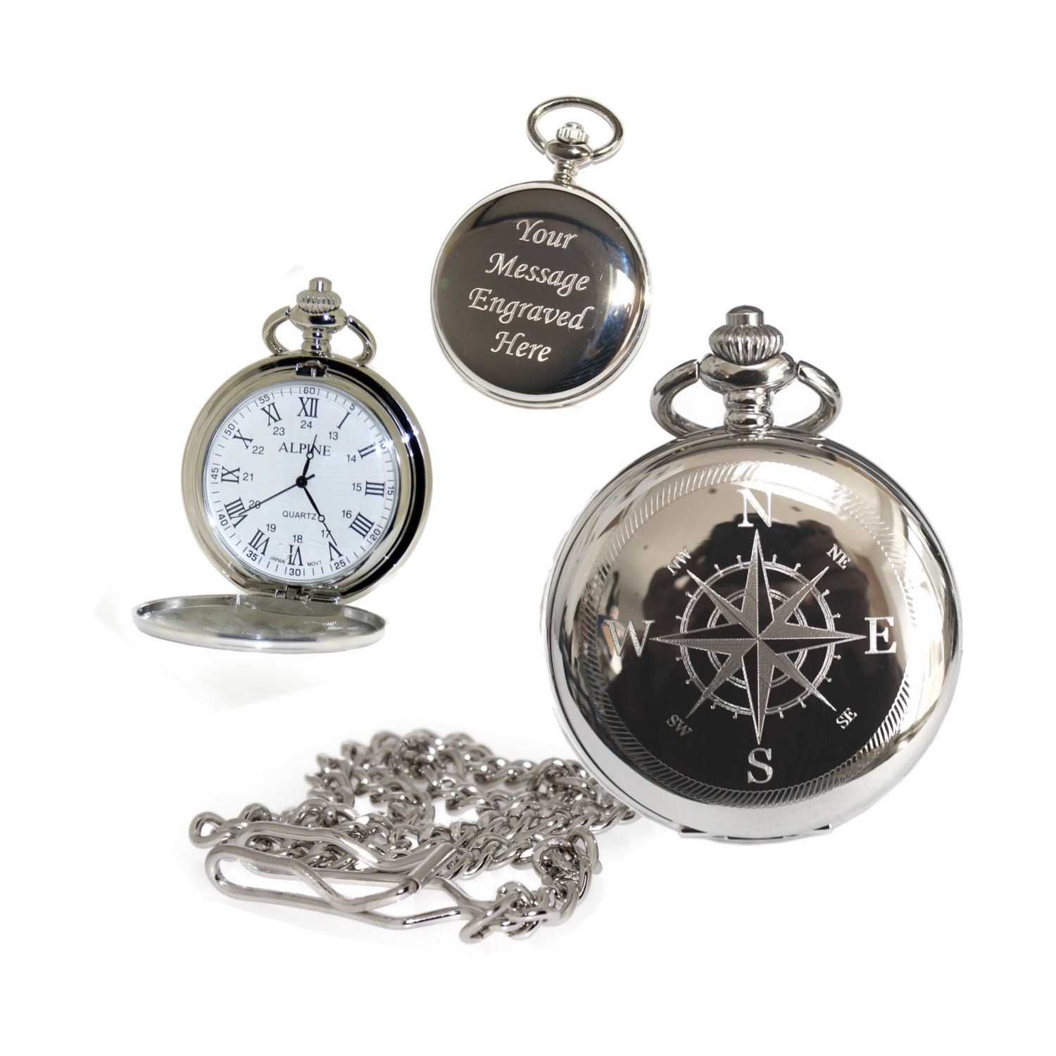 compass pocket numerals gift for best usher