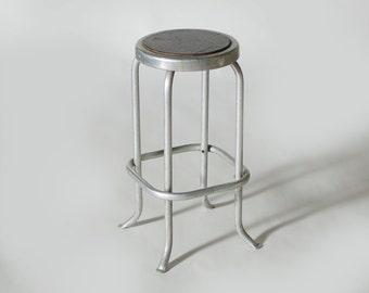 Vintage Aluminum Counter Stool Mid Century