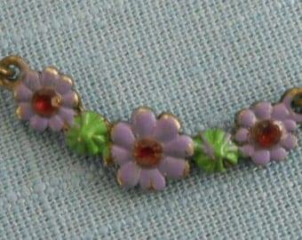 Vintage 1990s delicate enamel violet choker