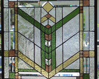 Stained Glass Window Hanging 24 1/2 X 24 1/2