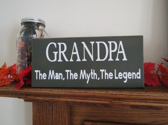 Grandpa man myth legend custom wood sign grandparents day like this item sciox Gallery